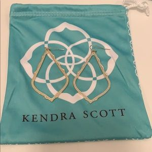 Kendra Scott Sophee drop earrings (gold)